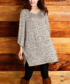 Loving this Oatmeal Melange V-Neck Tunic on #zulily! #zulilyfinds