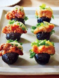 進化形おにぎり「パッカンおにぎり」がいま話題! インパクトのあるネーミングと、おしゃれな見た目でわだいふっとう! Onigiri Recipe, Homemade Sushi, Healthy Menu, How To Cook Rice, Picnic Foods, Cafe Food, Food Decoration, Food Presentation, Japanese Food