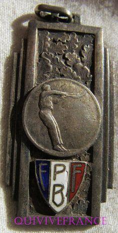 BG8042 - INSIGNE BADGE FEDERATION FRANÇAISE DE PELOTE BASQUE CHISTERA 1938   eBay