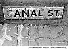 Funny road signs and funny street names: Anal Street or Canal Street!
