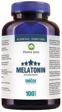 Pharma Activ Melatonín Sníček tbl 1x100 ks Coconut Oil, Jar, Jars, Glass