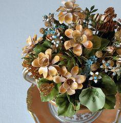 Enameled Flower Bouquet 1950's Vintage Home Decor by retrogroovie, $68.00
