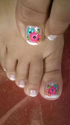 Fall Toe Nails, Pretty Toe Nails, Cute Toe Nails, Summer Toe Nails, Pretty Nail Colors, Toe Nail Art, Pedicure Designs, Manicure E Pedicure, Toe Nail Designs