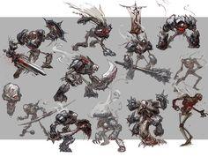Undead Bones Concept Arts de Darksiders, por Paul Richards