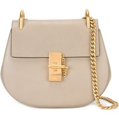 Chloé Drew shoulder bag (€1.610) ❤ liked on Polyvore featuring bags, handbags, shoulder bags, grey, gray leather handbags, gray leather purse, leather fringe handbags, grey leather handbag and leather fringe purse