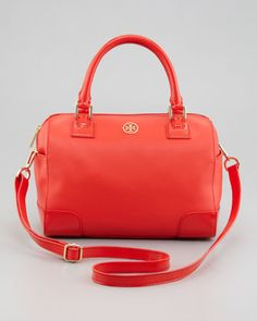Robinson Middy Satchel Bag, Poppy Red by Tory Burch at Neiman Marcus.