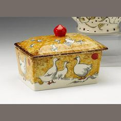 A Butter Dish and Cover, painted by Matthew Rice, 2007  I love love love this!