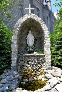 images about Blessed Mary Grotto on Pinterest Lady