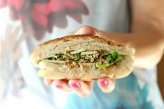 Soy sandwich with cucumber cream