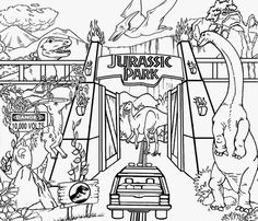 Online Thomas And Friends Coloring Page Printable For Kids Jurassic Park 3 Pages