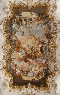 """Meisterliches an der Decke – Angela Holst – Wallpapers Designs – Honey – Art Renaissance Kunst, Renaissance Artists, Michelangelo Paintings, Art Ancien, Ceiling Art, Photo Images, Baroque Architecture, Classical Art, Aesthetic Art"
