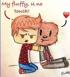 """Merome. He is Mitch's fluffeh, so dun touch or Mitch keel u. Why does so much of this stuff come up when i search """"minecraft?"""""""