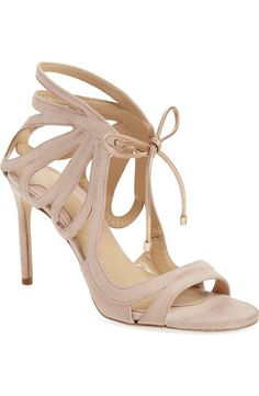 Crushing on these gorgeous suede sandals in a darling blush pink color.