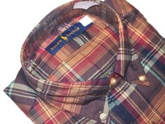 Ralph Lauren men's plaid shirt size small NEW msrp $98.00 on SALE  #RALPHLAUREN #ButtonFront