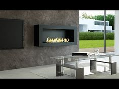 Smart Bio Ethanol Fireplace with Remote Control - AFIRE