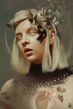 Some portrait's of aurora aksnes.She is one of my favorite artists.