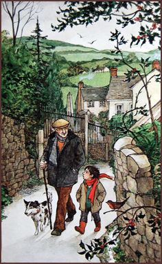 - -   Back in November I scanned a few of Trina Schart Hyman's illustrations of A Child's Christmas in Wales , by Dylan Thomas to share wit...