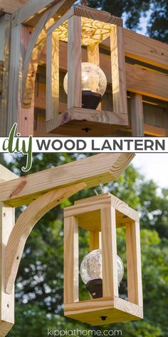Diy Wooden Projects, Outdoor Projects, Wooden Diy, Wood Crafts, Garden Lighting Diy, Diy Outdoor Furniture, Wooden Garden Furniture, Wooden Lanterns, Diy Solar