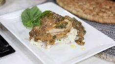 Easy n' creamy mushroom chicken with caesar-herbed mashed potatoes