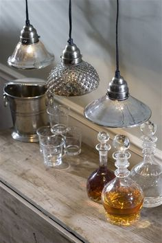Hobnail pendants (the middle one) over my kitchen bar!