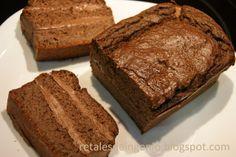Retales de ingenio: Recetas y Dietética: Bizcocho de cacao, almendra y tofu