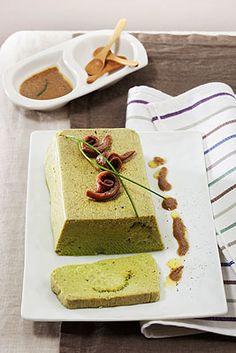 Sformato di broccoletti con salsa d'acciughe