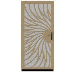 unique home design security doors. unique home designs 36 in. x 80 solstice tan surface mount steel security door with insect screen and bronze hardware design doors o
