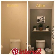 Half Bathroom Ideas Small Decor Powder Rooms the Conspiracy apikhome com is part of Small half bathrooms - Toilet Room Decor, Small Toilet Room, Half Bathroom Decor, Half Bathroom Remodel, Downstairs Bathroom, Budget Bathroom, Bathroom Renovations, Modern Bathroom, Small Toilet Decor