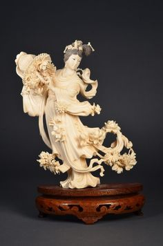 Chinese Carved Ivory Figure Guanyin