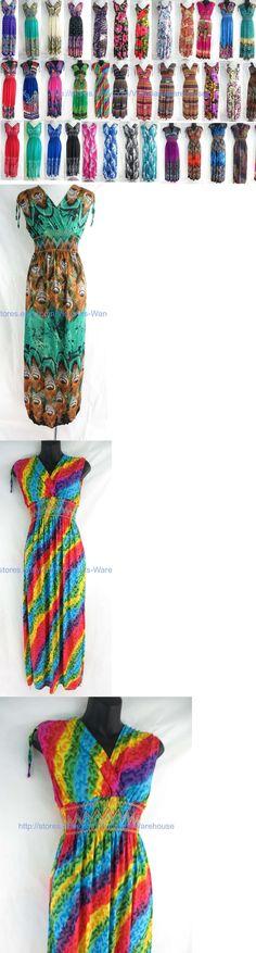 Dresses 50986: Wholesale 20 Bohemian Dresses E Maxi Sundress Beach Dress Vacation Dress Halter -> BUY IT NOW ONLY: $159 on eBay!