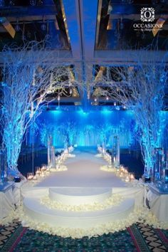 27 Ideas For Wedding Winter Wonderland Theme Wedding Stage, Tree Wedding, Wedding Themes, Wedding Reception, Wedding Venues, Wedding Decorations, Wedding Blue, Wedding Ideas, Branches Wedding