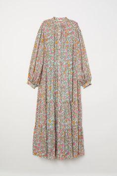 Crinkled long dress