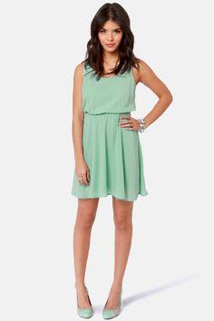 Cute Mint Green Dress - Backless Dress - $36.00