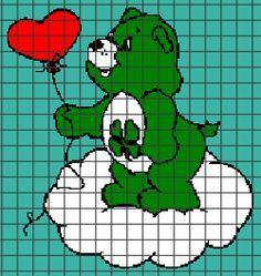Care Bears – Good Luck Bear (Graph AND Row-by-Row Written Crochet Instructions) – 01