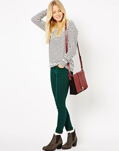 Pieces | Pieces Pine Green Jegging at ASOS