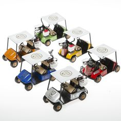 Clear the Course It's Golf Cart Time Have tons of race car fun at any event. These plastic cars are perfect for any occasion and are great for filling gift bags Golf Centerpieces, Golf Party Decorations, Golf R, Kids Golf, Play Golf, Golf Baby, Golf Cart Accessories, Golf Theme, Best Golf Courses
