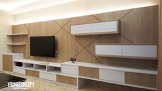 If you want your living room to look good, here is where you can discover the list of TV cabinet designs in Malaysian living rooms. Tv Console Design, Tv Cabinet Design, Tv Stand Unit, Tv Unit, Modern Tv Cabinet, Tv Cabinets, Living Room Designs, Iris, Lounge
