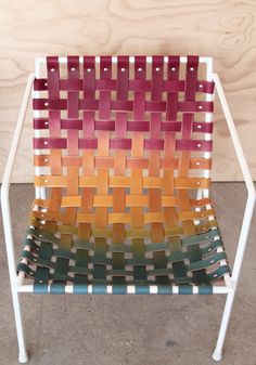 Rod & Weave chairs Technicolor Edition by Eric Trine