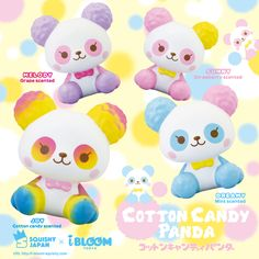 ibloom Cotton Candy Panda Squishy ibloom has finally made a panda squishy! These 4 new squishies are called Cotton Candy Panda Squishy. Each comes in ibloom packaging and each has its own unique