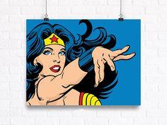 Retrato de mujer maravilla personalizable Comic Book