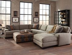 What a beautiful sectional! What do you think? Could you picture this sectional in your home?  #Style #Design #Home