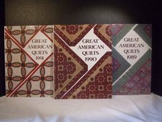 Lot 3 Great American Quilts Books 1989 1990 1991 Oxmoor House
