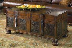 Living Spaces - Mckenna Rectangular Trunk Cocktail Table