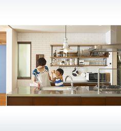 見せる収納でインテリアを楽しむ。ビンテージ家具に囲まれた暮らし   ヘーベルハウス   実例・くらし方・商品