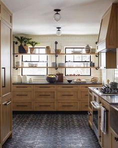 Dark, light, oak, maple, cherry cabinetry and wooden kitchen cabinets sydney. CHECK PIN for Lots of Wood Kitchen Cabinets. Wooden Kitchen Cabinets, Kitchen Tiles, Kitchen Flooring, New Kitchen, Wooden Kitchens, Light Wood Kitchens, Tile Flooring, Black Counter Top Kitchen, Log House Kitchen
