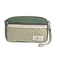 Damara Womens Double Zipper Top Detachable Wristlet Purse,Green *** Find out more about the great product at the image link. We are a participant in the Amazon Services LLC Associates Program, an affiliate advertising program designed to provide a means for us to earn fees by linking to Amazon.com and affiliated sites.
