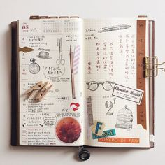 Midori Traveler's Notebook pages - gorgeous inspiration for keeping a travel journal. Ideas and techniques for keeping a sketchbook, art journal, or scrapbook while on the road