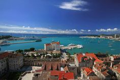 Split seen from top of Sv Duje bell tower