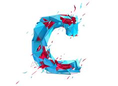 Low poly typography on Behance