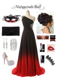 """Masquerade Ball 4"" by mayra-arredondo97 on Polyvore featuring Masquerade, Lauren Lorraine, Christian Dior, Jouer, Kenneth Jay Lane, Sole Society, Reiss and Illamasqua"